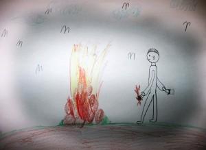 Kinderbild aus einem Feuerworkshop (Foto: Feuerpädagogik e.V.)