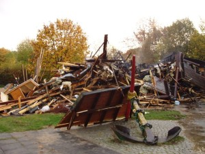 Nach dem Brand des Spielhauses auf dem Ankerplatz