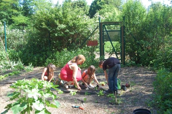 Arbeiten im Garten (Foto: Rainer Deimel)